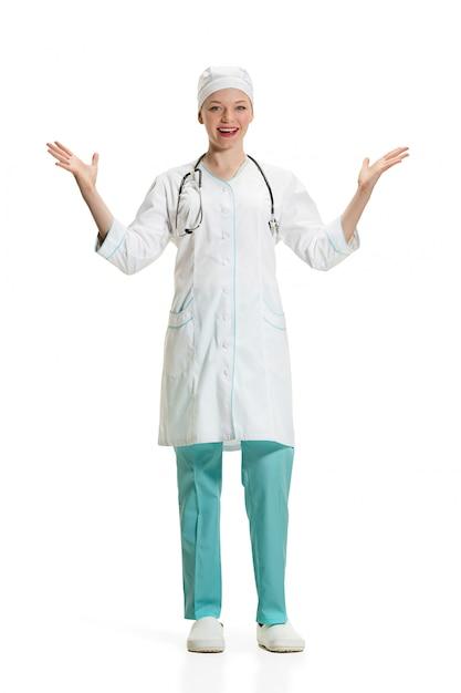 Женский доктор изолированы. концепция здоровья Бесплатные Фотографии