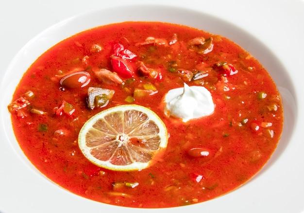 Красный суп с фасолью Бесплатные Фотографии