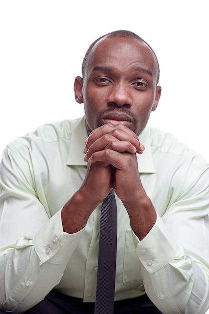 ハンサムな若い黒人アフリカの男の肖像 無料写真