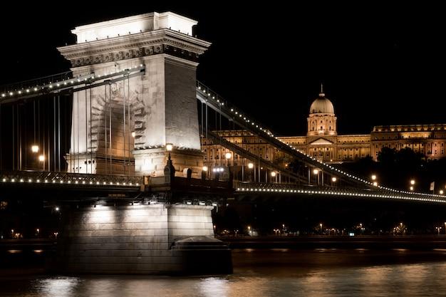 Цепной мост в будапеште Premium Фотографии