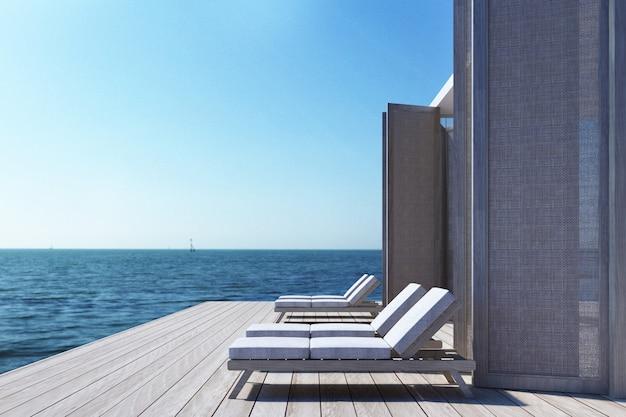 Пляж на море Premium Фотографии