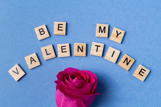 言葉は青に私のバレンタインになる Premium写真