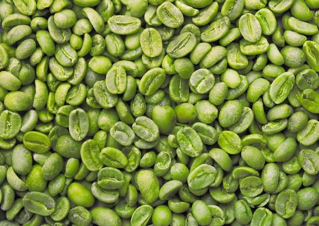 Зеленый кофе в зернах Premium Фотографии