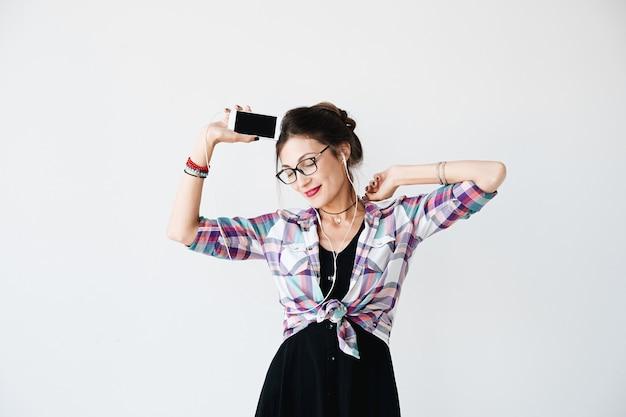 Танцующая девушка портрет Бесплатные Фотографии