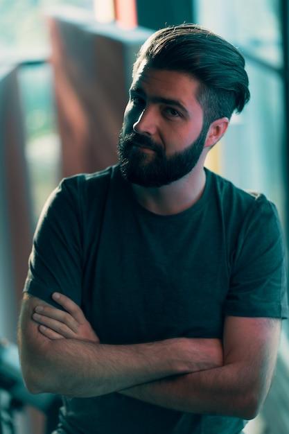 Макро портрет молодого человека Бесплатные Фотографии