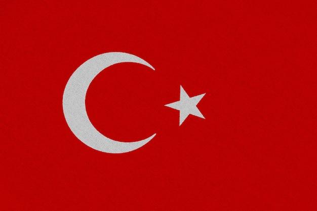 Флаг турции ткани Premium Фотографии
