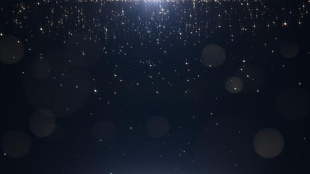 Гламурные золотые частицы на черном фоне Premium Фотографии