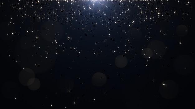 Золотые частицы на черном Premium Фотографии
