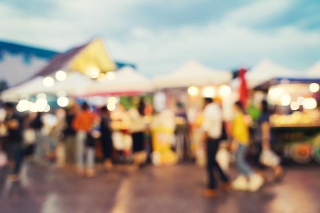 ショッピングモールで抽象的なぼかし市場 Premium写真