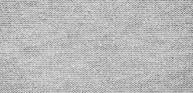 Панорама серого фона ткани и текстуры с копией пространства Premium Фотографии