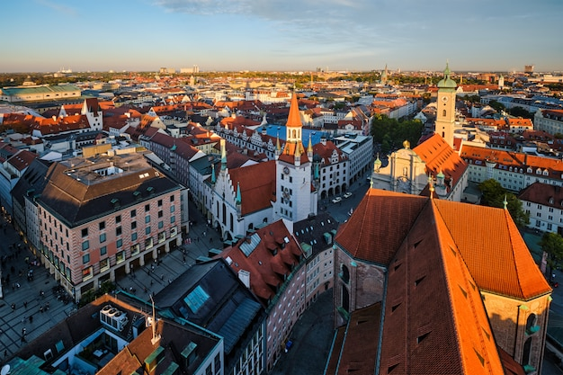 Аэрофотоснимок мюнхена Premium Фотографии