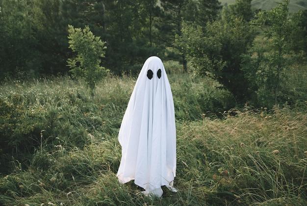 小さな白い幽霊 Premium写真