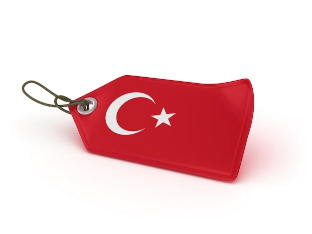 Рендеринг иллюстрация покупки ценник турецкий флаг Premium Фотографии