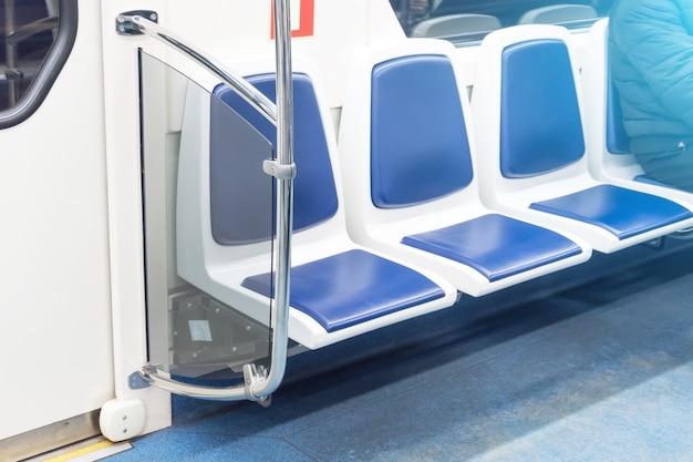 Свободные свободные места в общественном пассажирском транспорте, салоне Premium Фотографии