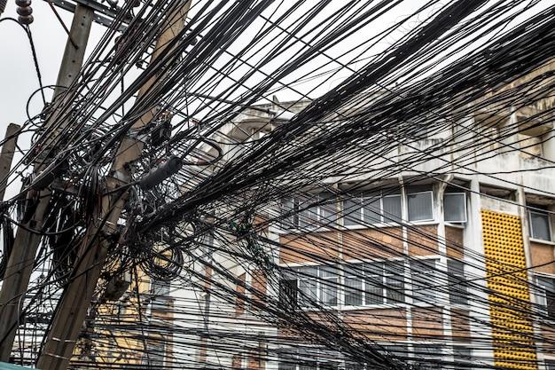 Электрические столбы в таиланде Бесплатные Фотографии