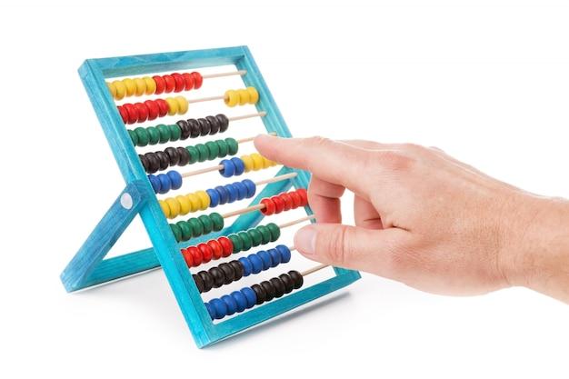 Разноцветные детские счеты Premium Фотографии