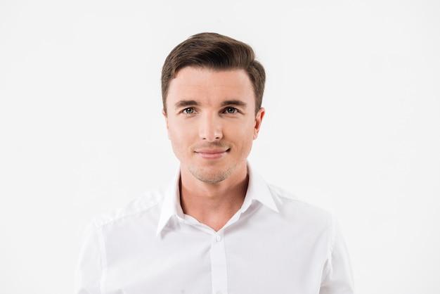 若い笑顔の男の肖像 無料写真