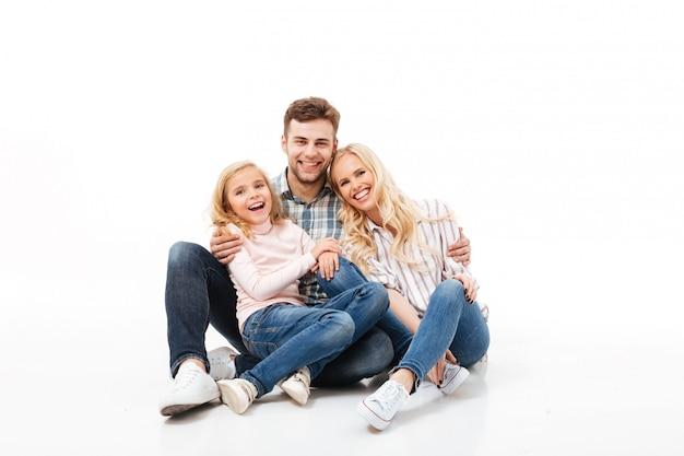 陽気な家族の肖像 無料写真