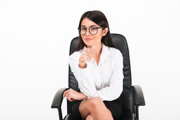 眼鏡で笑顔のアジア女性実業家の肖像画 無料写真