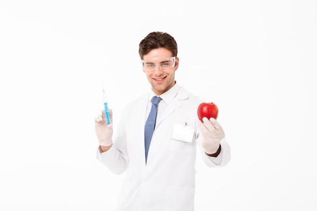 幸せな若い男性医師の肖像画を閉じる 無料写真