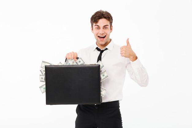 Портрет улыбающегося веселого бизнесмена Бесплатные Фотографии