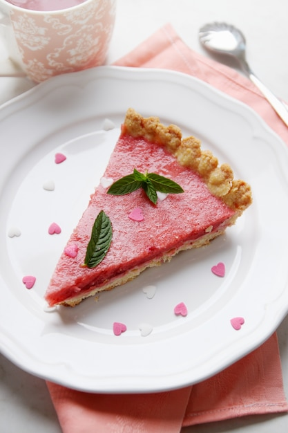ハートのケーキ Premium写真
