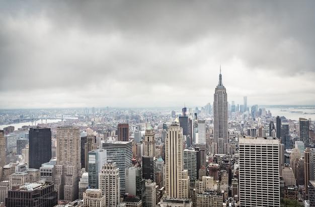 マンハッタンの空撮 Premium写真