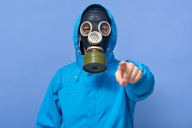 Макрофотография портрет экологов пугает фабрики, которые загрязняют воздух Premium Фотографии