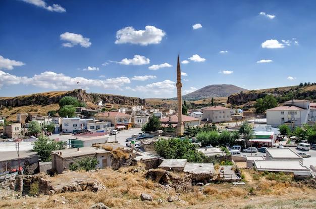 トルコ、カッパドキアのカイマクル地下街並みからの眺め。 Premium写真