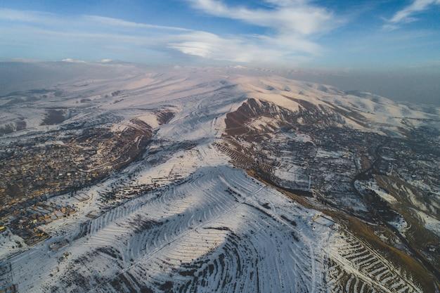 美しい空中ドローンショット 無料写真