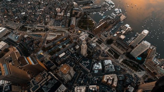 Красивый надземный ландшафт снятый с беспилотника Бесплатные Фотографии