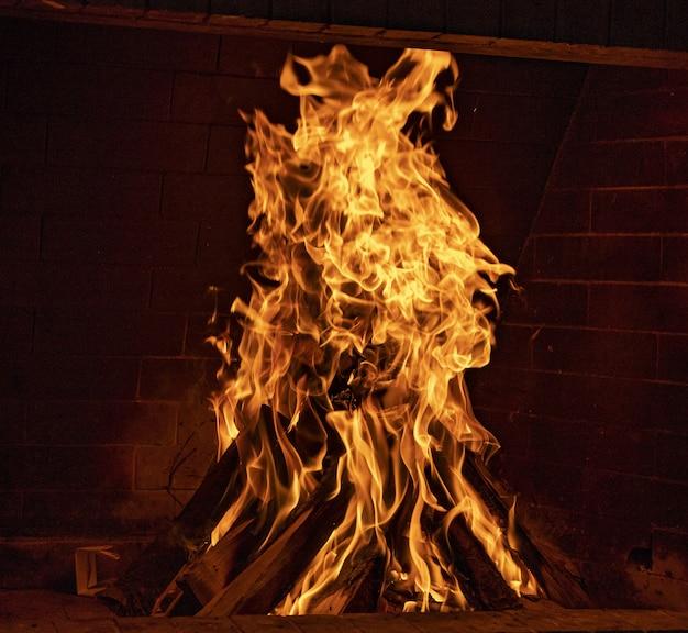 たき火のクローズアップ 無料写真