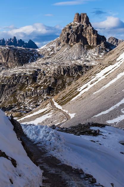 Патернофель гора в итальянских альпах Бесплатные Фотографии
