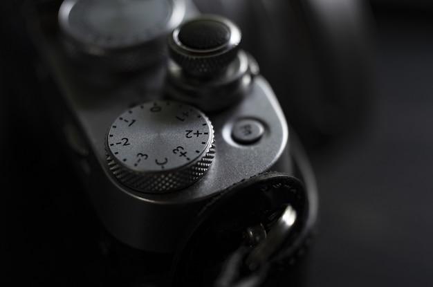 Экстремальный близком расстоянии от профессиональной камеры слайдер снят в черно-белом Бесплатные Фотографии