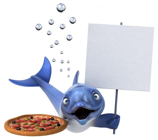 Веселая анимация дельфинов Premium Фотографии