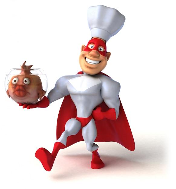 Веселая анимация супергероев Premium Фотографии