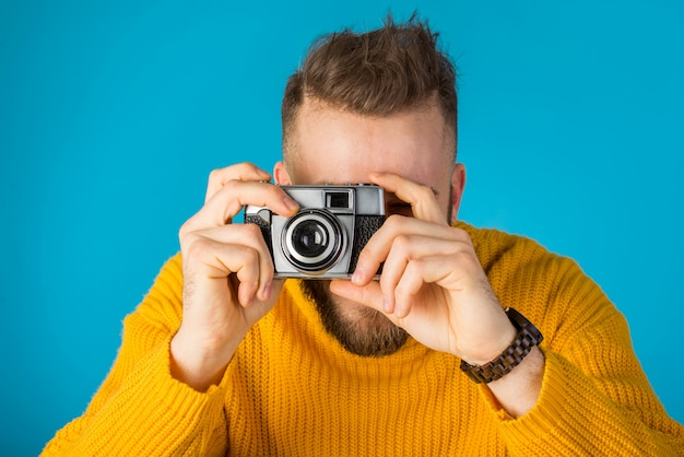 幸せな男の肖像画 Premium写真