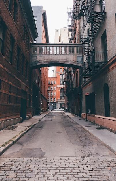 ニューヨーク市のステープルストリート Premium写真