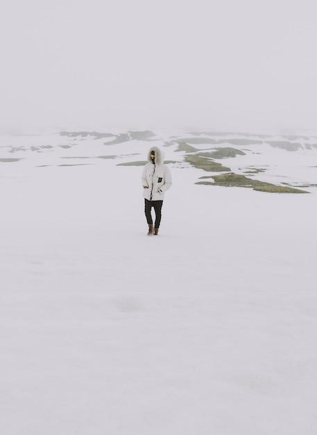 アイスランドの自然の驚異を発見するワンダーラストエクスプローラー Premium写真