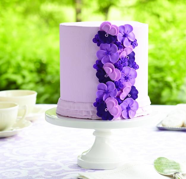 パープルケーキ Premium写真