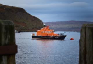 ポートリーの救命ボート、スカイ島 無料写真