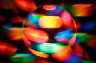 Спиннинг диско лампы абстрактные оранжевый Бесплатные Фотографии