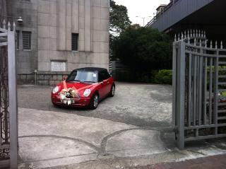 結婚式の車のようにミニ·クーパー 無料写真