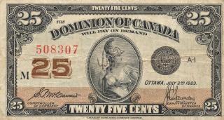 カナダのビンテージ紙幣ドミニオン着用 無料写真