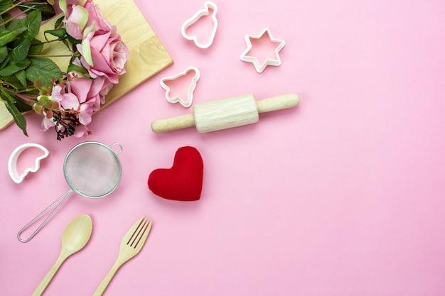 装飾バレンタインデーの背景。 Premium写真