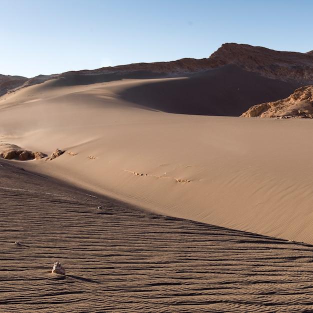 砂丘、バジェ・デ・ラ・ルナ、サンペドロデアタカマ、エルロア県、アントファガスタ地方、チーの眺め Premium写真