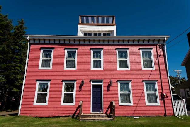Фасад здания, виктория, остров принца эдуарда, канада Premium Фотографии