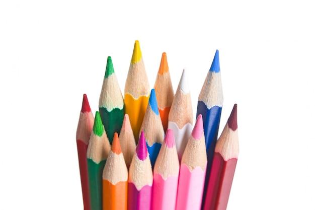 分離された色鉛筆 Premium写真