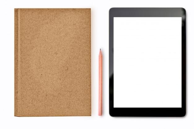 白い背景のモックアップデジタルタブレット Premium写真