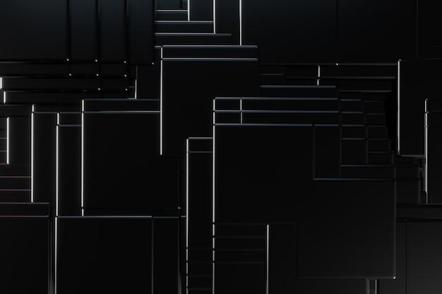 建設黒い正方形の背景 Premium写真